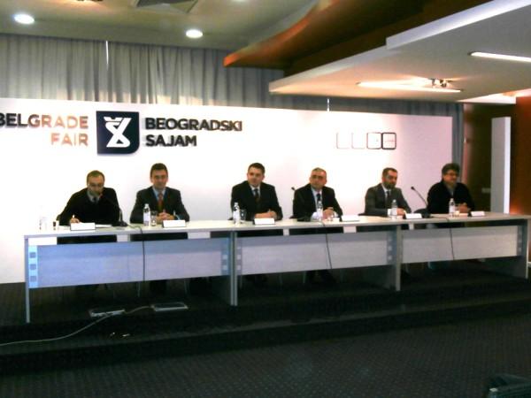 Detalj sa konferencije za štampu Beogradskog Sajma